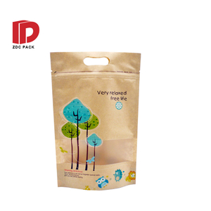 Food grade packaging bag with zipper paper packaging bag for food
