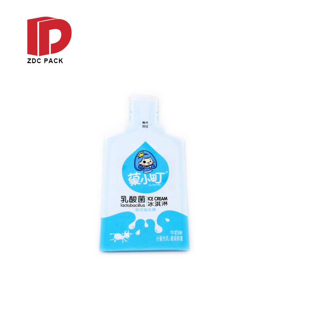 Custom printed bottle shape juice colorful pouch irregular shape pouch