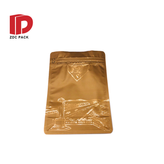 Customized size 125g 250g Aluminum Foil Flat Bottom Coffee Bean nut candy snack cereal Bags With Valve